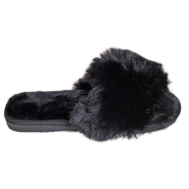 Bona Eleganti pantofole nere nero