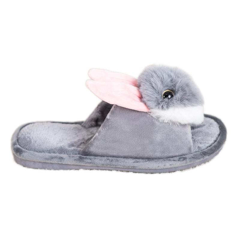 Bona Pantofole da coniglio grigio