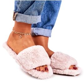 FRJ Pantofole di pelliccia da donna Beige Cold Days
