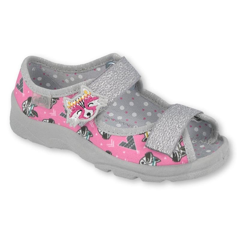 Scarpe per bambini Befado 969X162 rosa argento