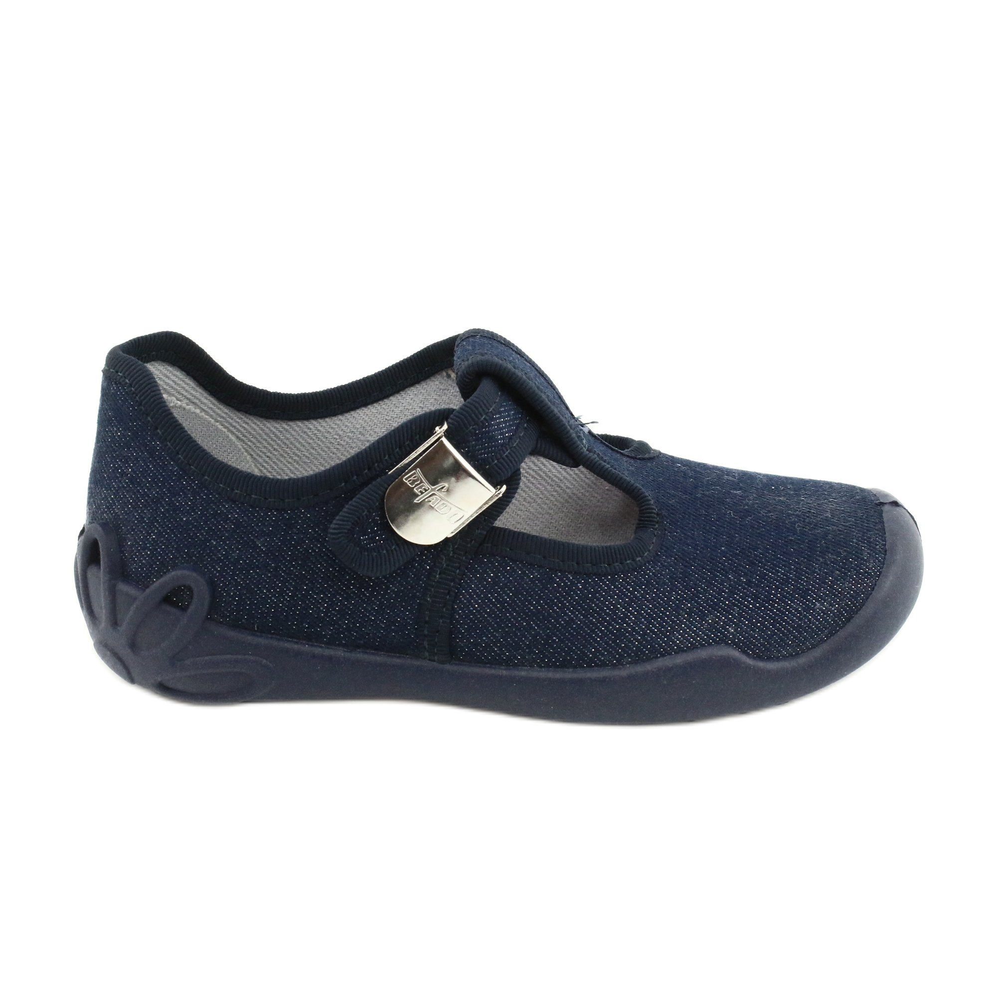 Scarpe per bambini Befado in bianco blu navy