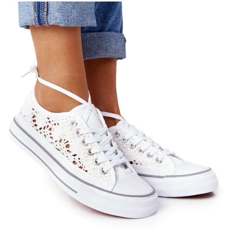 FB2 Sneakers da donna in pizzo candice bianco