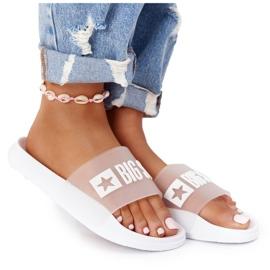 Pantofole da donna Big Star FF274A199 Bianche incolore bianco