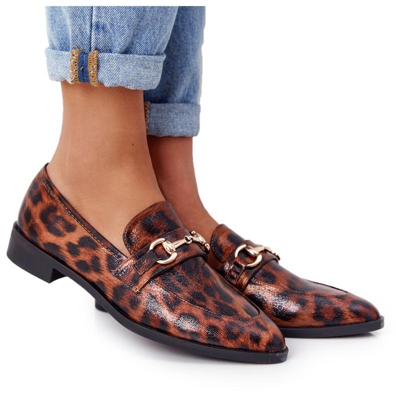 S.Barski Mocassini eleganti da donna S. Barski Leopard marrone