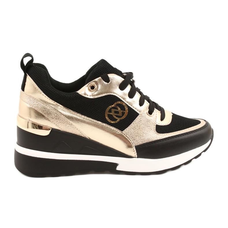 Evento Sneakers con zeppa da donna 21PB35-4001 Nere Oro Roxette nero d'oro