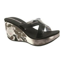 Pantofole con zeppa Ipanema 83071 Lipsick Straps VII da donna nero grigio