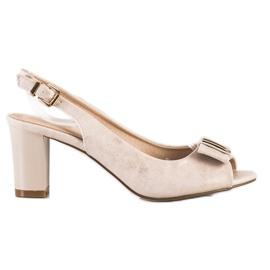 Evento Sandali eleganti con tacchi alti beige