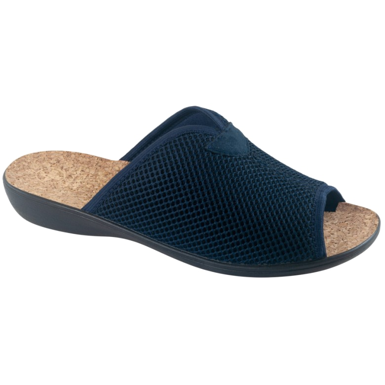 Pantofole Pantofole Con Sughero Adanex BIO 26008 Blu navy marina