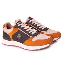 NEWS Scarpe sportive da uomo Sneakers Giallo-Marrone Harold multicolore