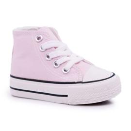 FRROCK Sneakers classiche per bambini Filemon alte rosa