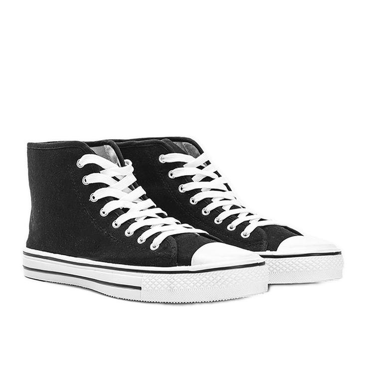 Sneakers nere da uomo Gin alla caviglia nero