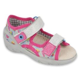 Scarpe per bambini Befado pu 065P149 rosa grigio