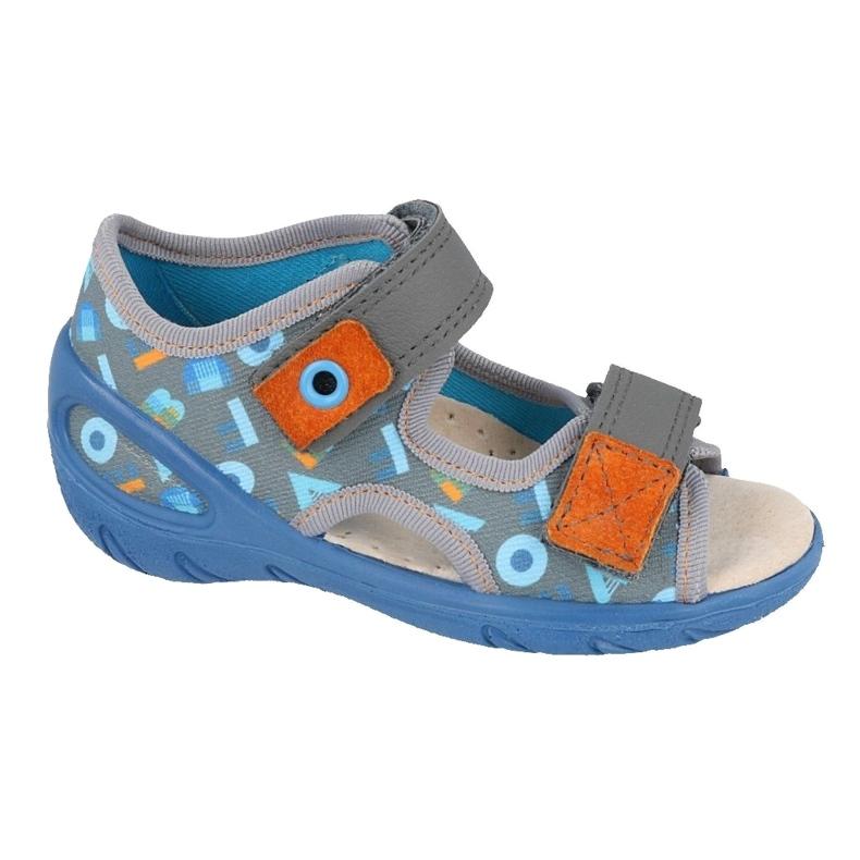 Scarpe per bambini Befado pu 065P160 blu grigio