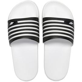 Pantofole 4F W H4L21 KLD001 20S bianco nero