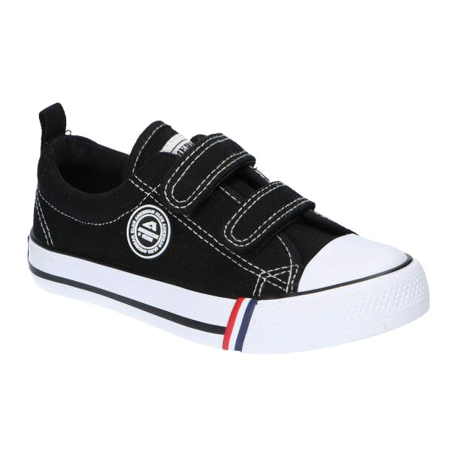 American Club Sneakers nere americane LH33/21 velcro nero