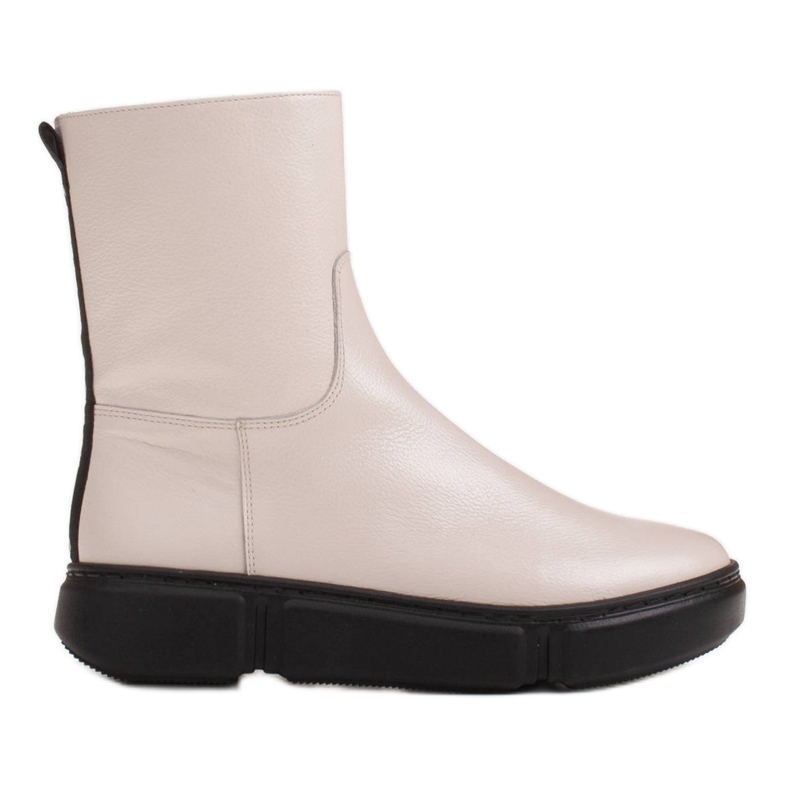 Marco Shoes Stivaletti sportivi bianchi realizzati in morbida pelle naturale bianco