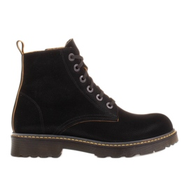 Marco Shoes Stivaletti alti, stivali legati su una suola traslucida nero