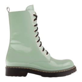 Marco Shoes Stivaletti alti, stivali legati su una suola traslucida verde