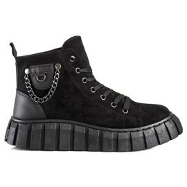 Seastar Sneakers In Pelle Scamosciata Con Catena nero
