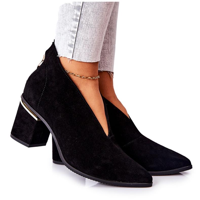 Stivali in pelle con tacco alto Laura Messi Nero 2344