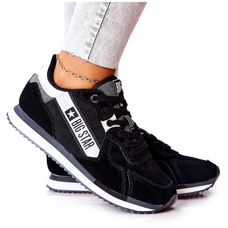 Scarpe sportive in pelle Big Star II274271 Nero bianca