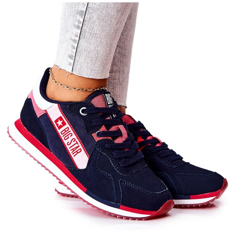 Scarpe sportive in pelle Big Star II274270 Blu navy bianca rosso