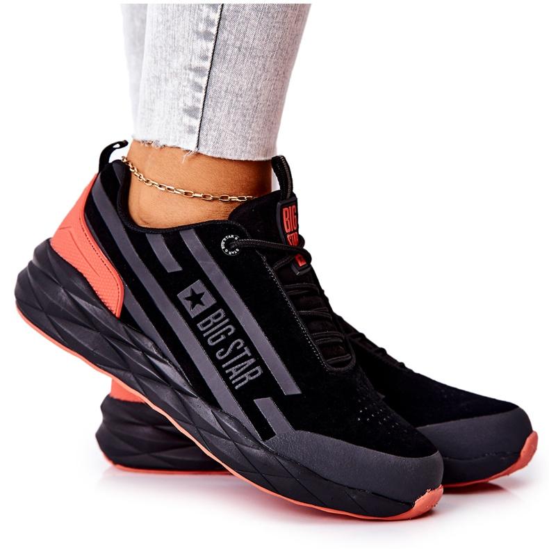 Scarpe Sportive in Pelle Big Star II274460 Nere nero rosso