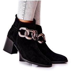 Stivali in pelle con catena Laura Messi Nero 2345