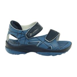 Scarpe velcro per bambini blu sandali per acqua Rider
