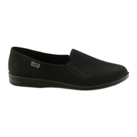 Pantofole slip-on nere Befado 001M060 nero