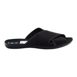 Nero Pantofole da uomo Adanex 20310 nere