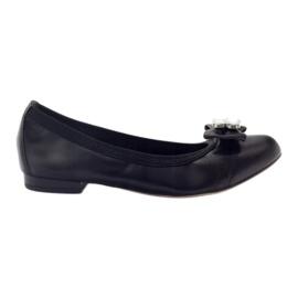 Ballerine da donna con fiocco Gamis 1402 nero