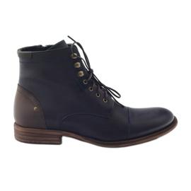 Stivali invernali da uomo Pilpol C831 blu scuro