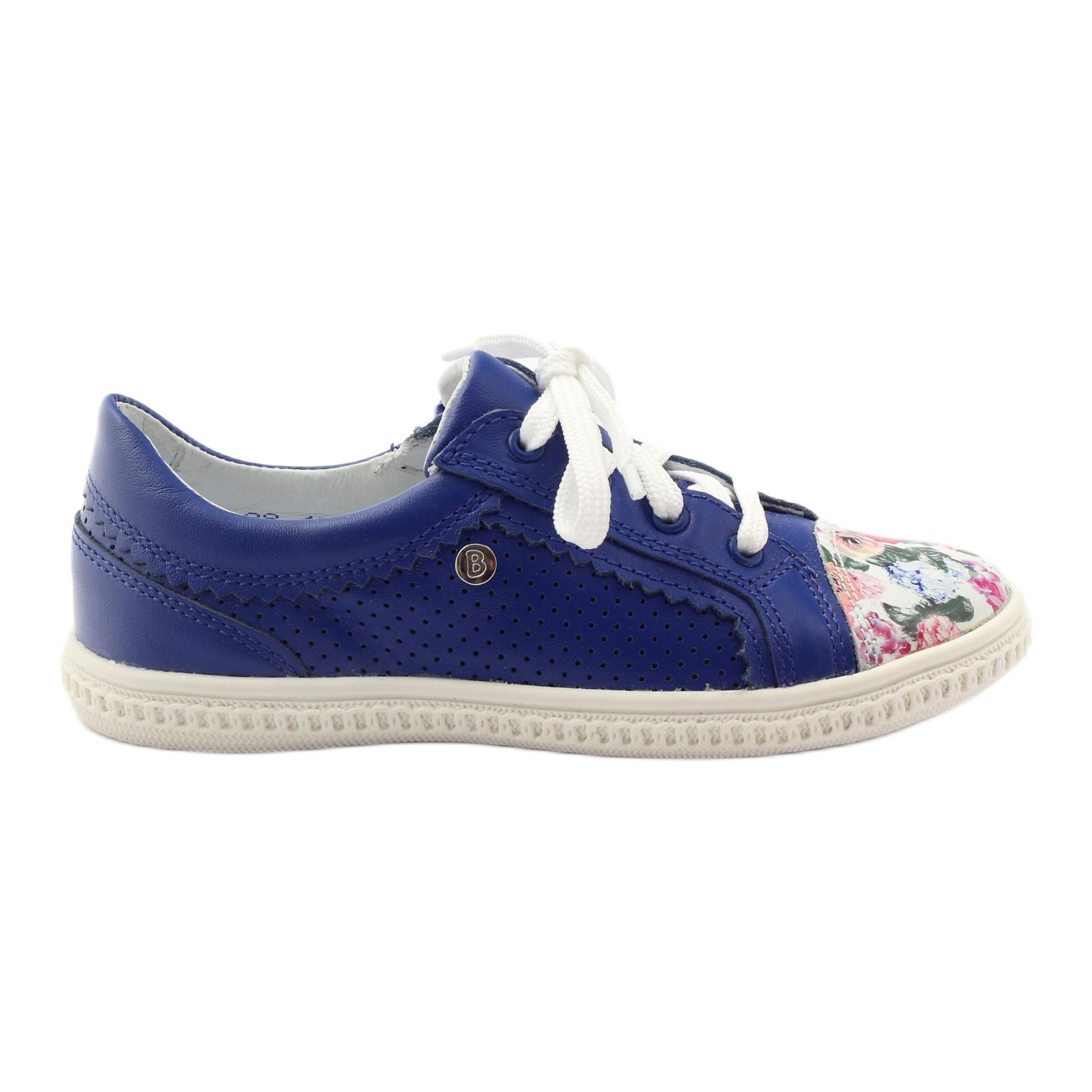 Scarpe-basse-per-bambina-fiori-Bartek-15524-blu-multicolore