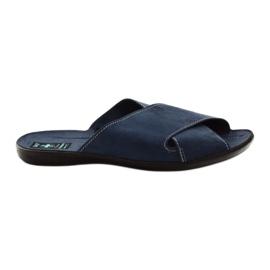 Marina Pantofole da uomo Adanex 20308 blu navy