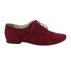 Pelle donna oxford Angello bordeaux