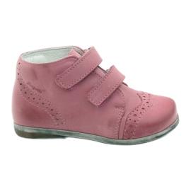 Scarpe in pelle velcro Hugotti rosa