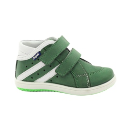 Scarpe in pelle Hugotti verde con velcro