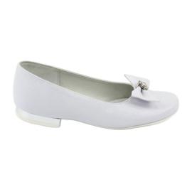 Décolleté comunione ballerine bianche Miko 800 bianco