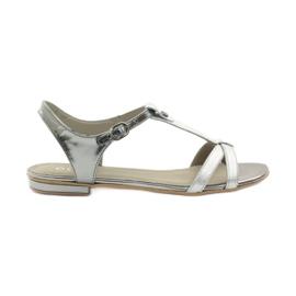 Sandali da donna EDEO wz.3087 argento grigio