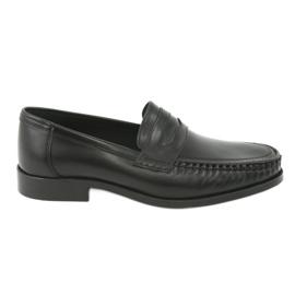Pilpol nero Mocassini scarpe nere Pilbut 01