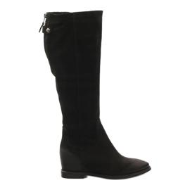 Stivali con zip decorativa Edeo 3138 nero
