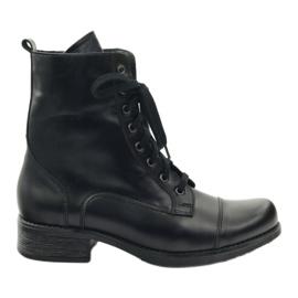 Nero Stivali con cerniera Angello 2060 nera