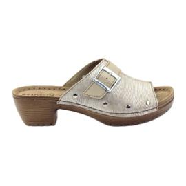 Scarpa per pantofole INBLU BL061 beige argento