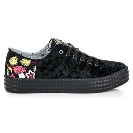 Kylie Sneakers in velluto nero