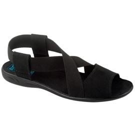 Comodi sandali da donna neri Adanex 17498 nero