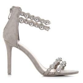 Vinceza Sandali Grigi Con Ornamenti grigio