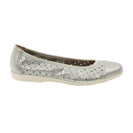 Grigio Caprice scarpe da donna ballerine in pelle 22151
