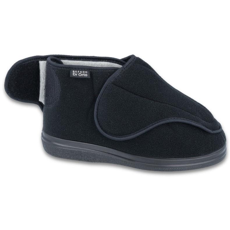 Befado scarpe da uomo pu orto 163M002 nero