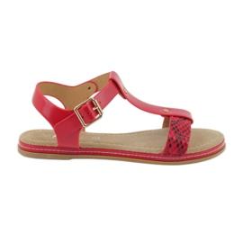 American Club Inserto in pelle American 052 sandali rosso